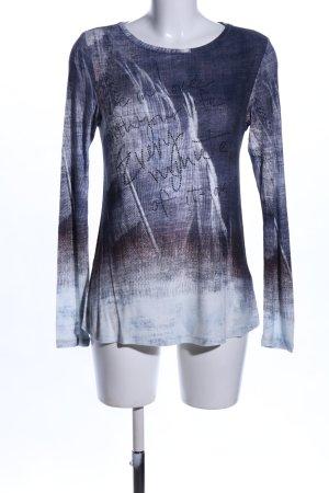 Margittes Longsleeve blau-hellgrau Farbverlauf Casual-Look