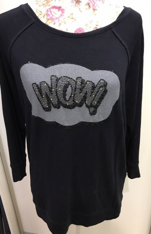 Margittes Longsleeve Shirt mit Slogan Wow Gr.38