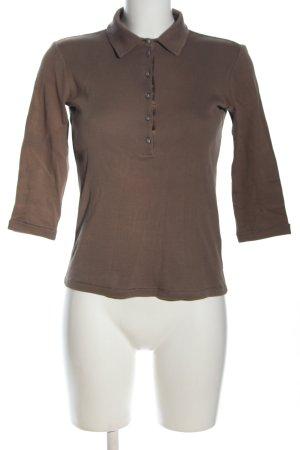 Margittes Polo-Shirt braun Casual-Look