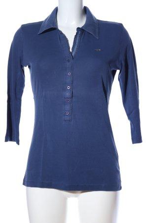 Margittes Polo-Shirt blau Casual-Look
