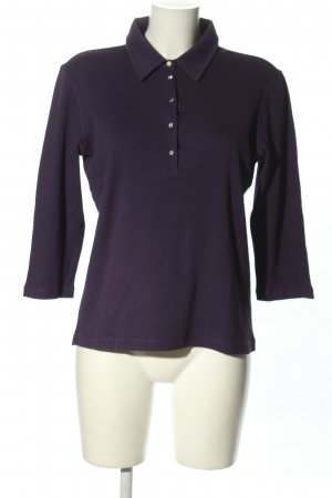 Margittes Polo-Shirt dunkelviolett Casual-Look