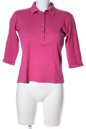 Margittes Camiseta tipo polo rosa look casual