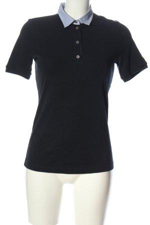 Margittes Polo-Shirt schwarz Casual-Look