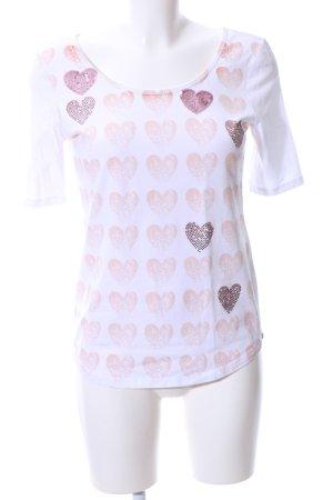 Margittes Print-Shirt Allover-Druck Casual-Look
