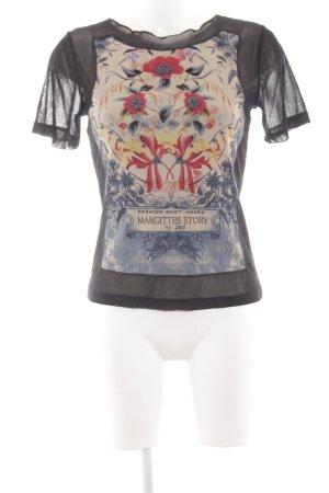 Margittes Print-Shirt Blumenmuster Casual-Look