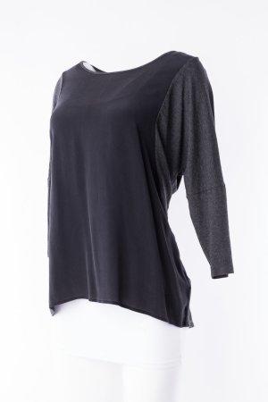 MARGITTES -Shirt Schwarz-grau mit Fledermausärmeln