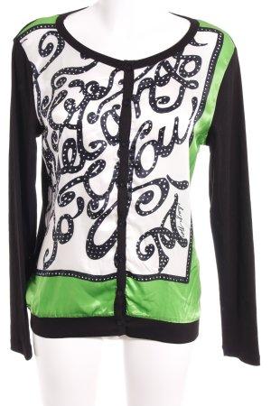 Margittes Strickweste schwarz-grün Mustermix extravaganter Stil