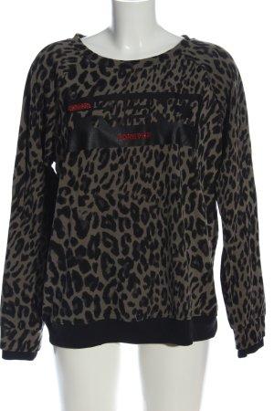 Margittes Sweatshirt wollweiß-schwarz Allover-Druck Casual-Look