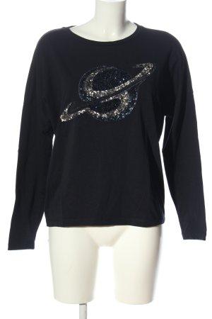 Margittes Sweatshirt blau Motivdruck Casual-Look