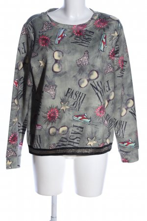 Margittes Sweatshirt Motivdruck Business-Look