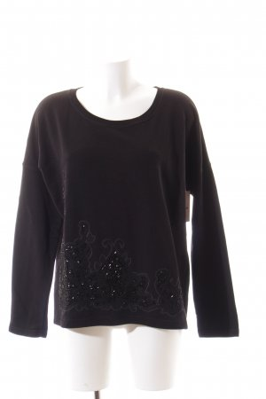 Margittes Sweatshirt schwarz Casual-Look