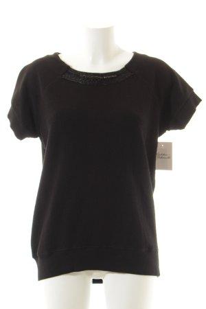 Margittes Sweatshirt schwarz schlichter Stil