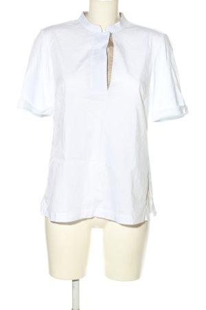 Margittes T-Shirt weiß-braun Casual-Look