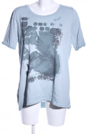Margittes T-Shirt blau Motivdruck Casual-Look