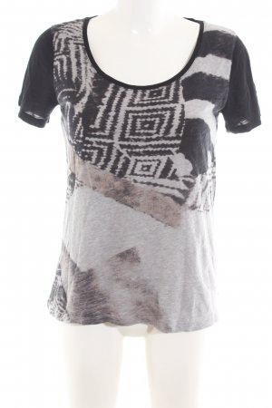 Margittes T-Shirt grafisches Muster Casual-Look