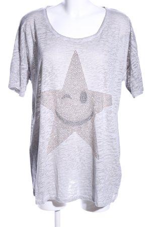 Margittes T-Shirt hellgrau meliert Casual-Look