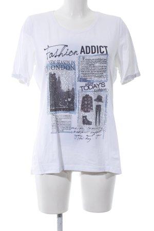 Margittes T-Shirt weiß Motivdruck Casual-Look