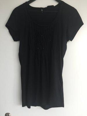 Margittes T-Shirt schwarz mit Glitzerperlen