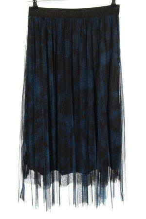 Margittes Falda de tul azul-negro look casual