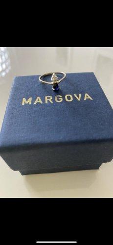 Margova Anello d'oro oro-blu scuro