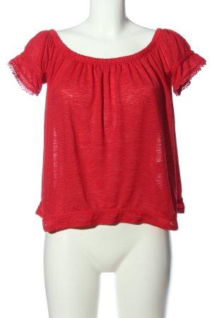 Mari Blusa alla Carmen rosso stile casual