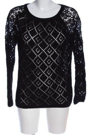 Mari Szydełkowany sweter czarny W stylu casual