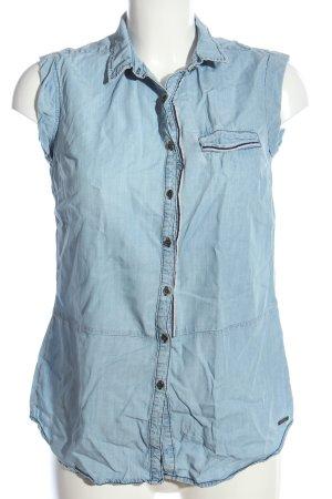 Mari Chemise en jean bleu style décontracté