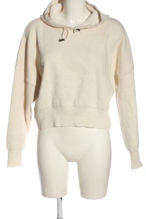 Mari Sweat à capuche blanc cassé style décontracté