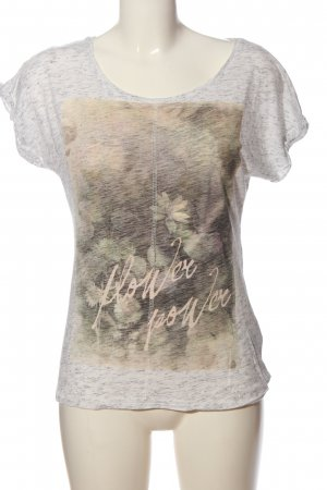 Mari T-Shirt hellgrau-creme meliert Casual-Look