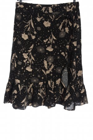 Mari Flounce Skirt black-cream allover print casual look