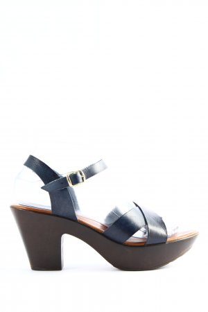 Maria Barcelo Platform High-Heeled Sandal blue casual look