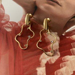 Maria Black Boucles d'oreille en or doré