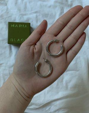 Maria Black Ruby Hoops Silber