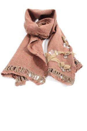 Maria Calderara Gebreide sjaal licht Oranje casual uitstraling