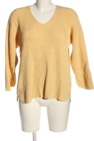 Maria di Ripabianca V-Ausschnitt-Pullover creme Casual-Look