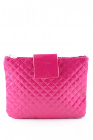 Clutch pink Steppmuster Elegant