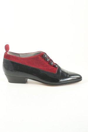 Maria Prange Oxfordy czarny-czerwony Elegancki
