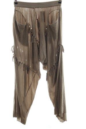 Mariagrazia Panizzi Pantalone alla turca marrone stile casual