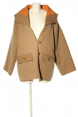 MARIAM AL SIBAI Hooded Coat brown-light orange casual look