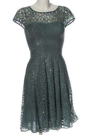 Marie Blanc Lace Dress green-light grey allover print wet-look