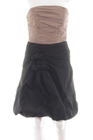 Marie Blanc Bandeaukleid schwarz-pink Elegant