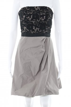 Marie Blanc Bandeaukleid beige-schwarz Romantik-Look