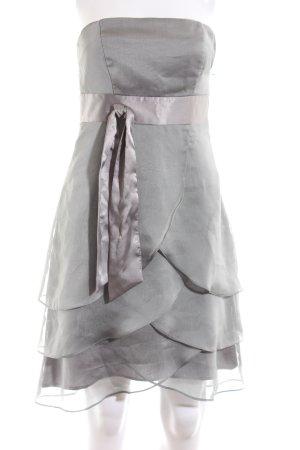 Marie Blanc Bandeaukleid silberfarben Elegant