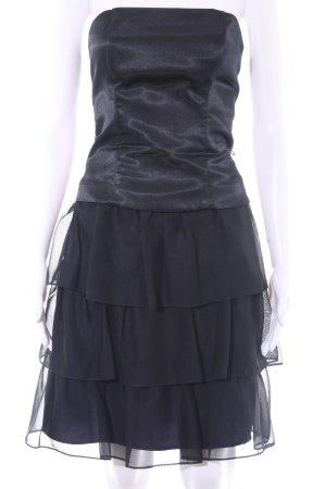 Marie Blanc Vestido bustier azul oscuro elegante