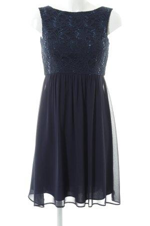 Marie Blanc Cocktailkleid blau Blumenmuster Elegant