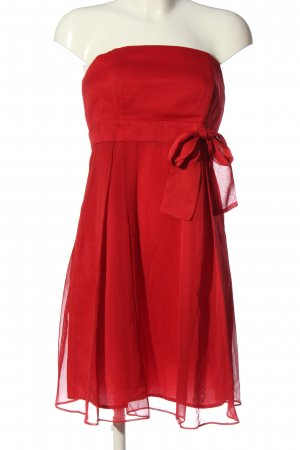 Marie Blanc schulterfreies Kleid rot Elegant