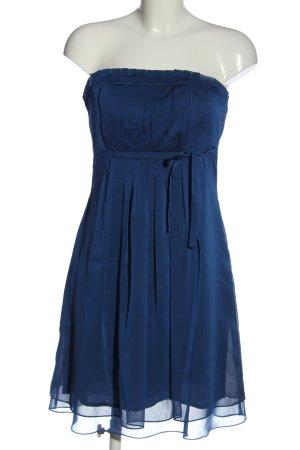 Marie Blanc Vestido strapless azul look casual