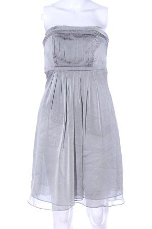 Marie Blanc schulterfreies Kleid hellgrau Elegant