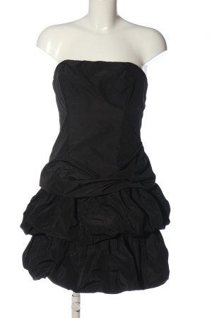 Marie Blanc schulterfreies Kleid schwarz Elegant