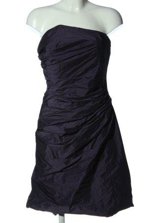 Marie Blanc schulterfreies Kleid blau Elegant